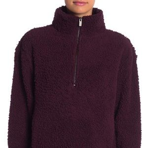 Andrew Marc Jackets & Coats - Andrew Marc Faux Shearling Quarter Zip Jacket